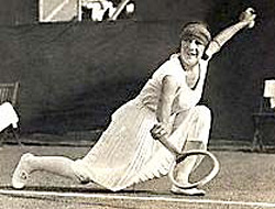 Ladies, more style on court please! Suzanne Lenglen showing you how it should be done...